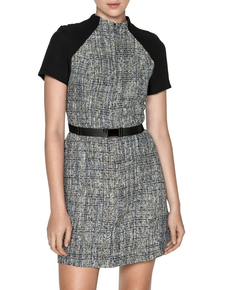 Boucle Tweed Belted Dress image 2