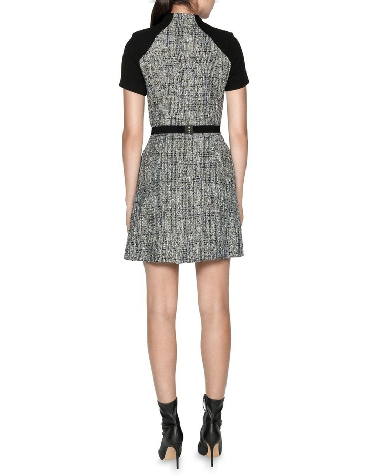 Boucle Tweed Belted Dress image 3