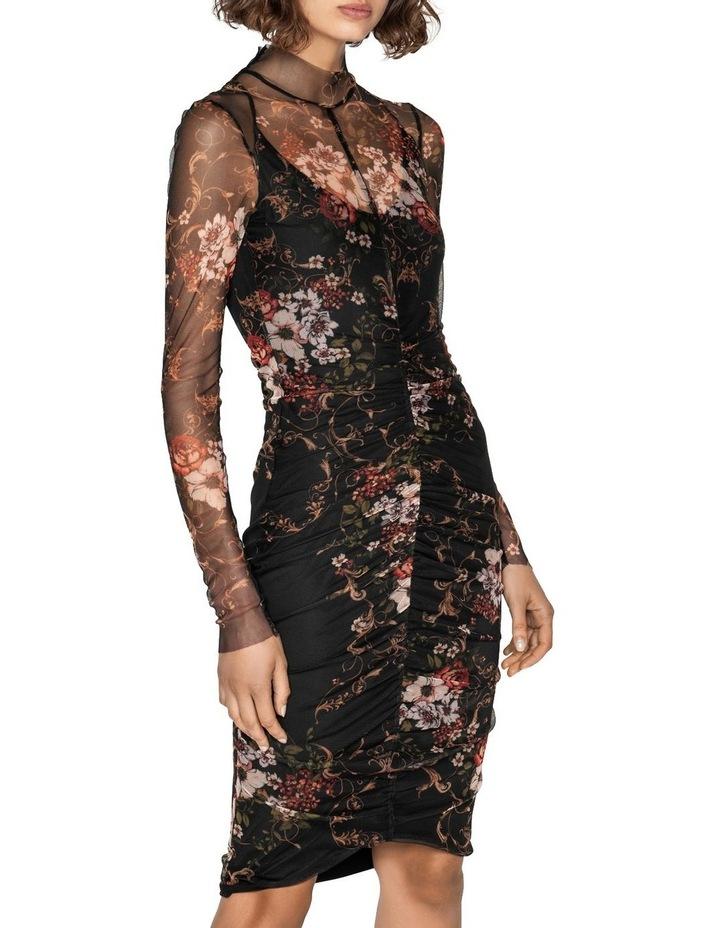Rose Mesh Ruched Dress image 2