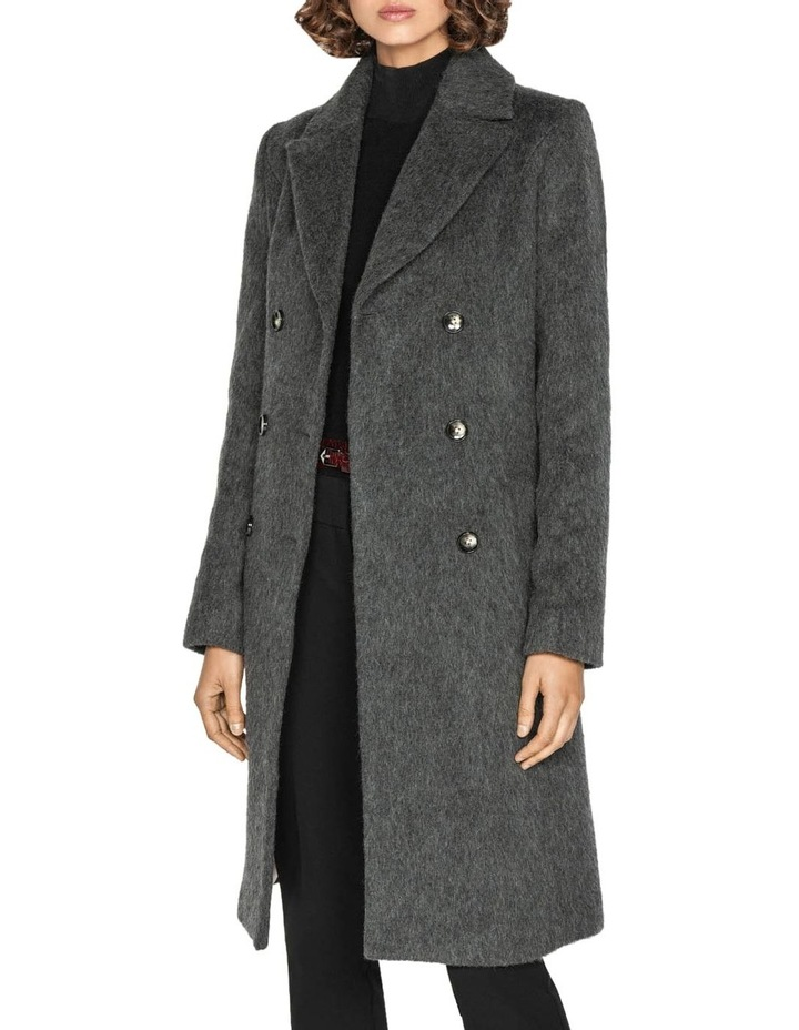 Charcoal Double Breasted Coat image 2