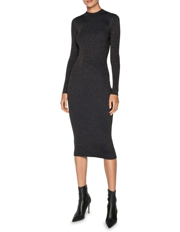 Lurex Ribbed Knitted Dress image 1