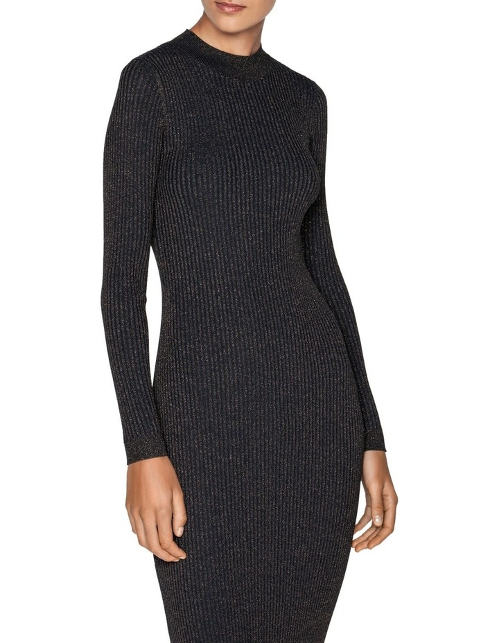 Lurex Ribbed Knitted Dress image 2