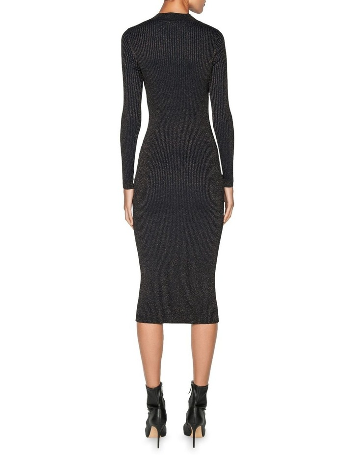 Lurex Ribbed Knitted Dress image 3