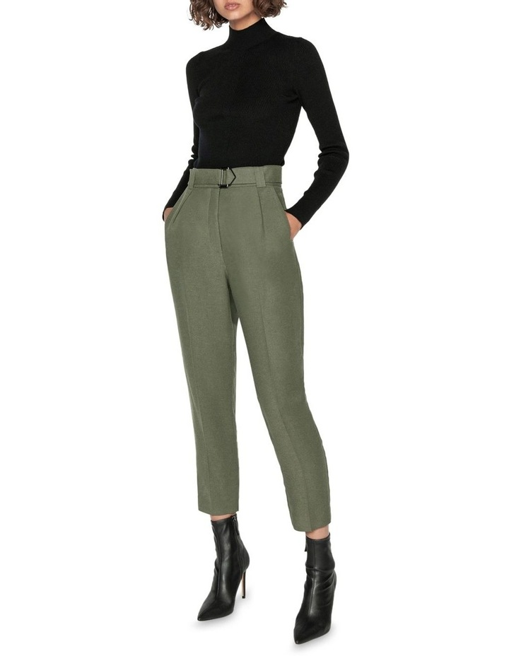 Linen Blend Slim Leg Pant image 1