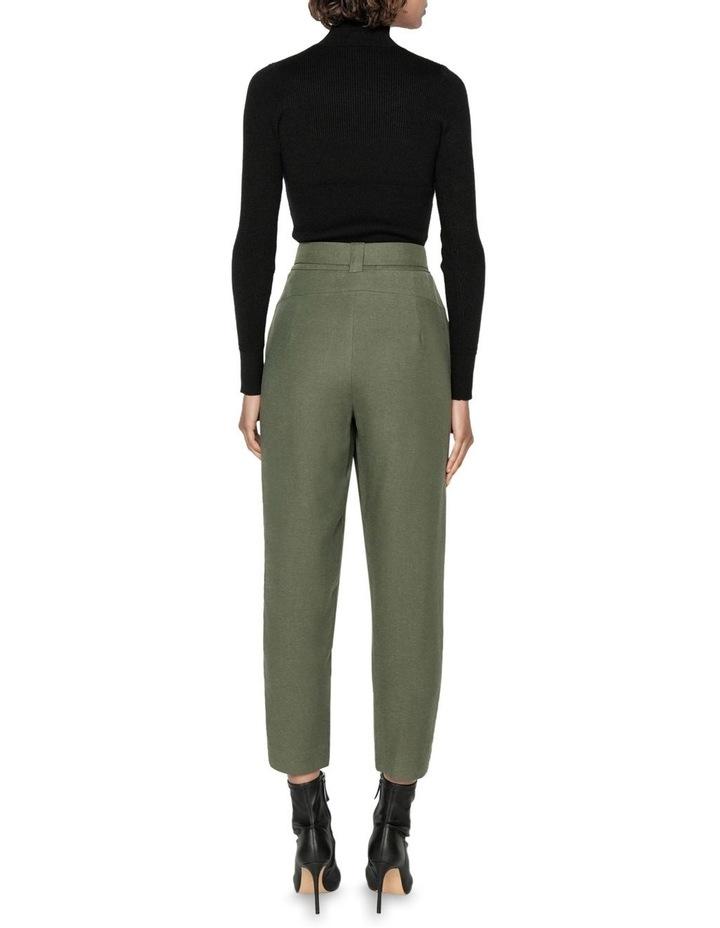 Linen Blend Slim Leg Pant image 3