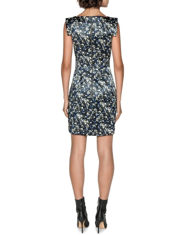 Abstract Floral Satin Dress image 2