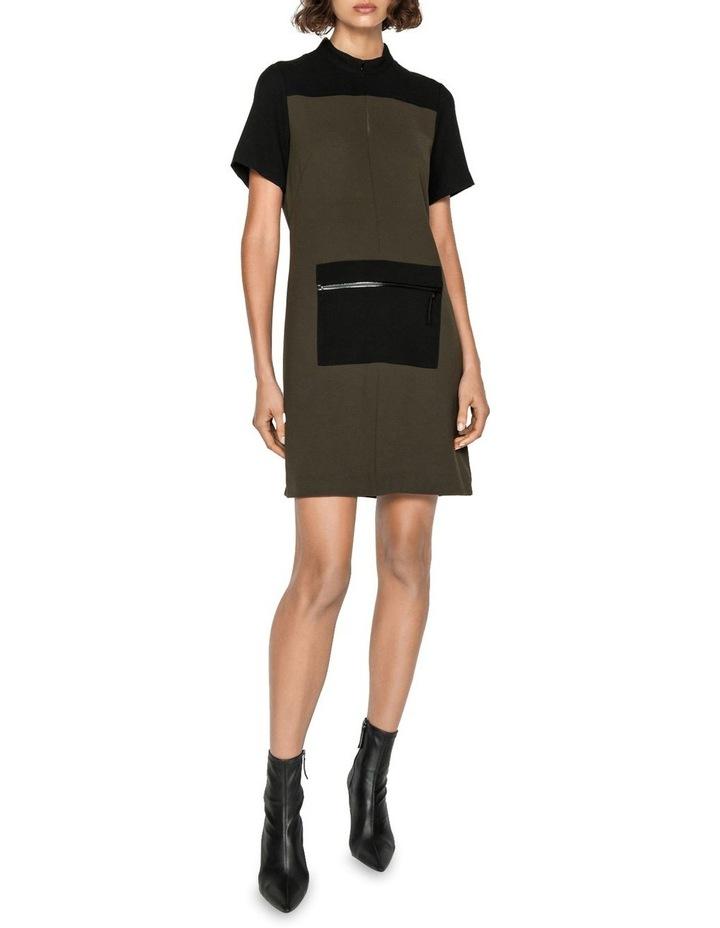 Khaki Spliced Dress image 1