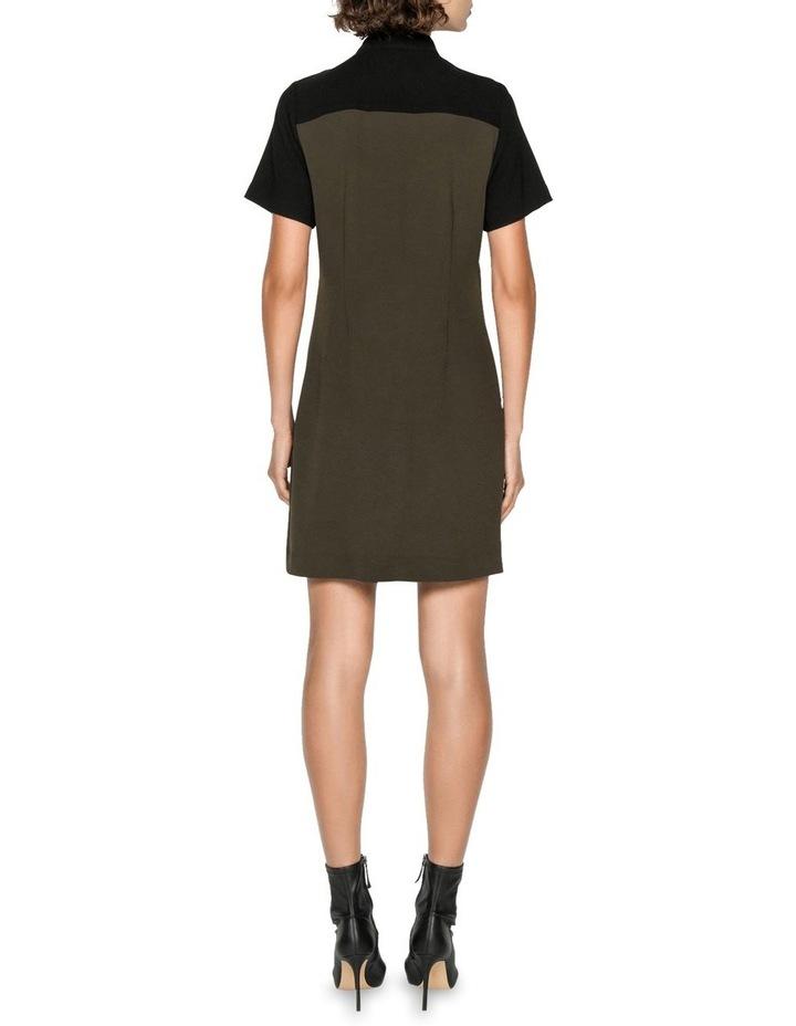 Khaki Spliced Dress image 3