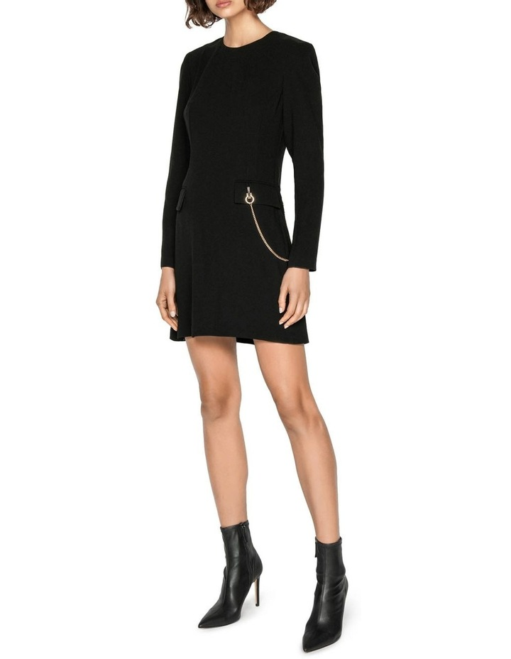 Chain Long Sleeve Shift Dress image 1