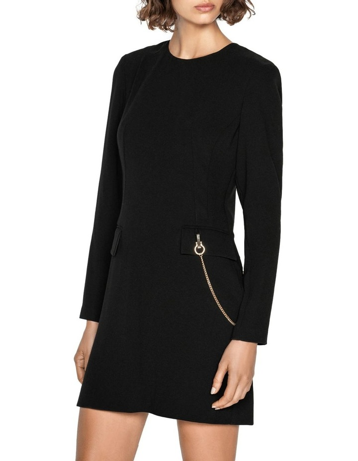 Chain Long Sleeve Shift Dress image 2