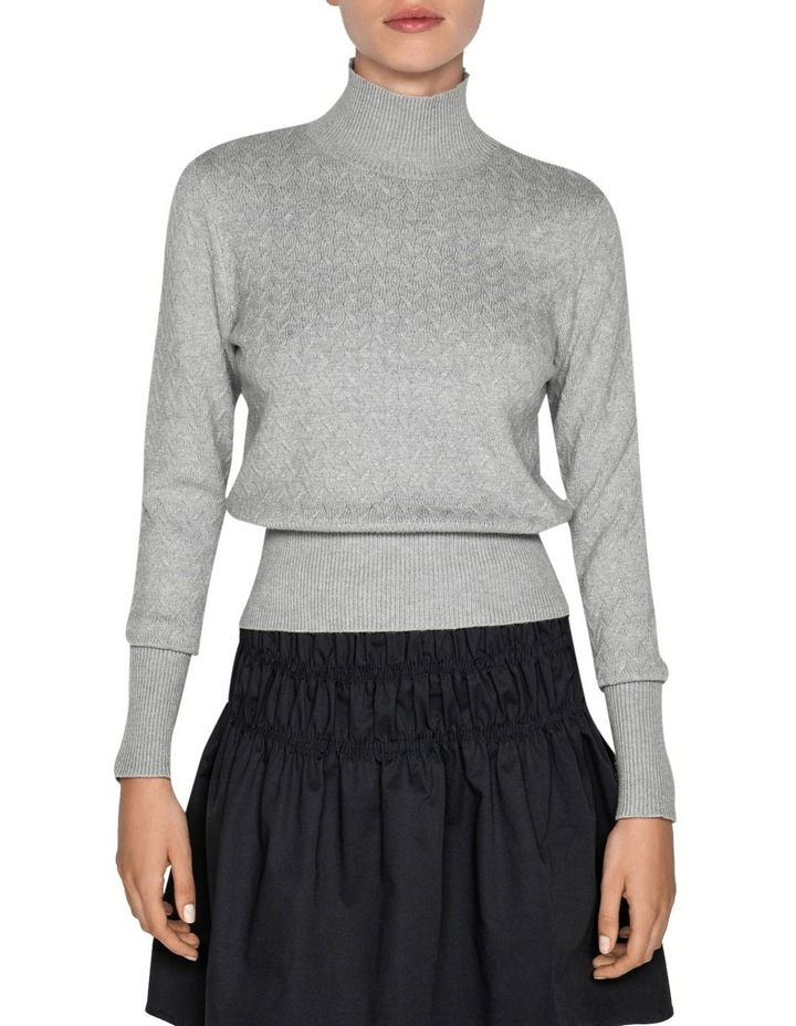 Textured Funnel Neck Sweater image 2