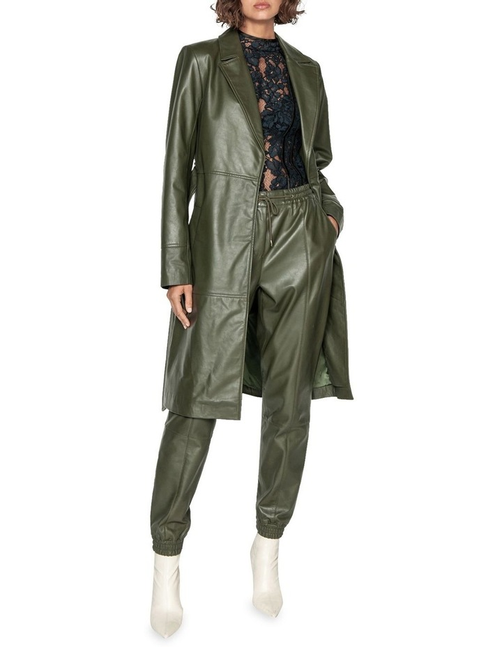 Khaki Leather Trench image 1