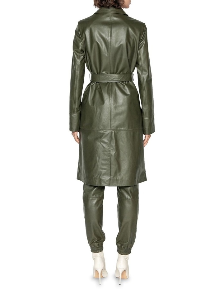 Khaki Leather Trench image 3