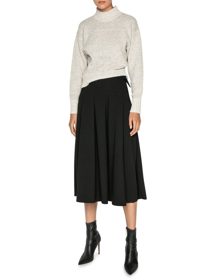 Crepe Buckled Waist Midi Skirt image 1