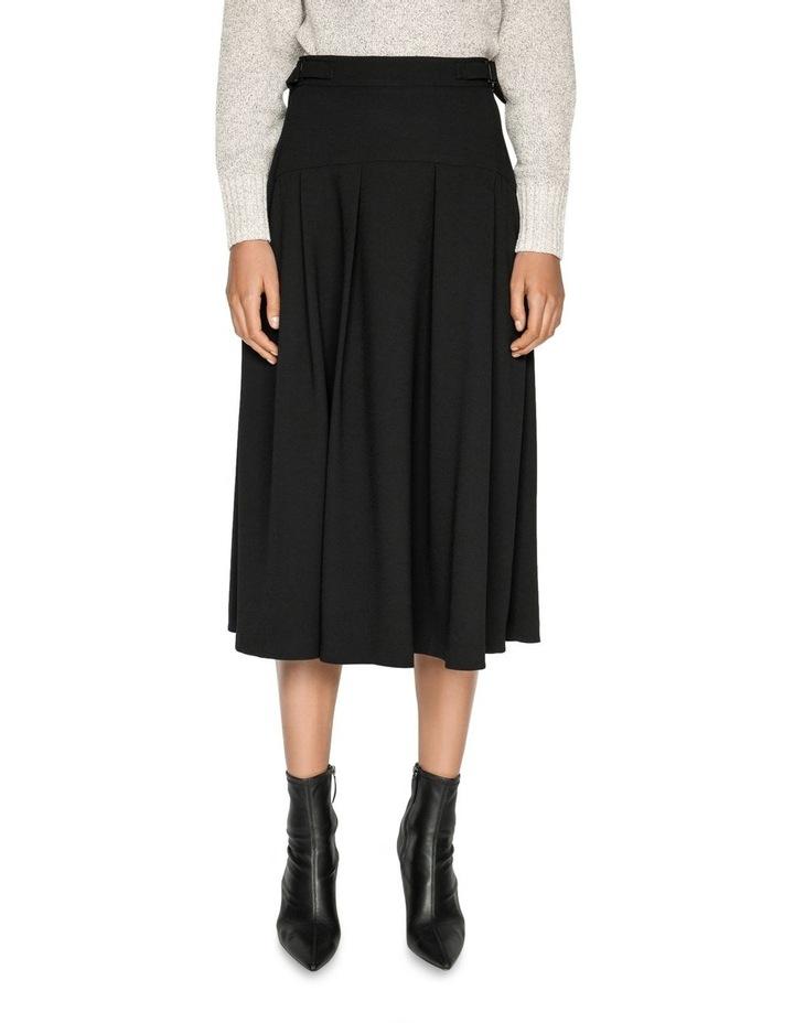 Crepe Buckled Waist Midi Skirt image 2