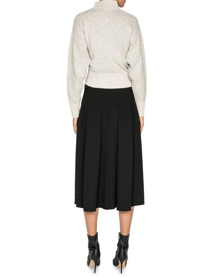 Crepe Buckled Waist Midi Skirt image 3