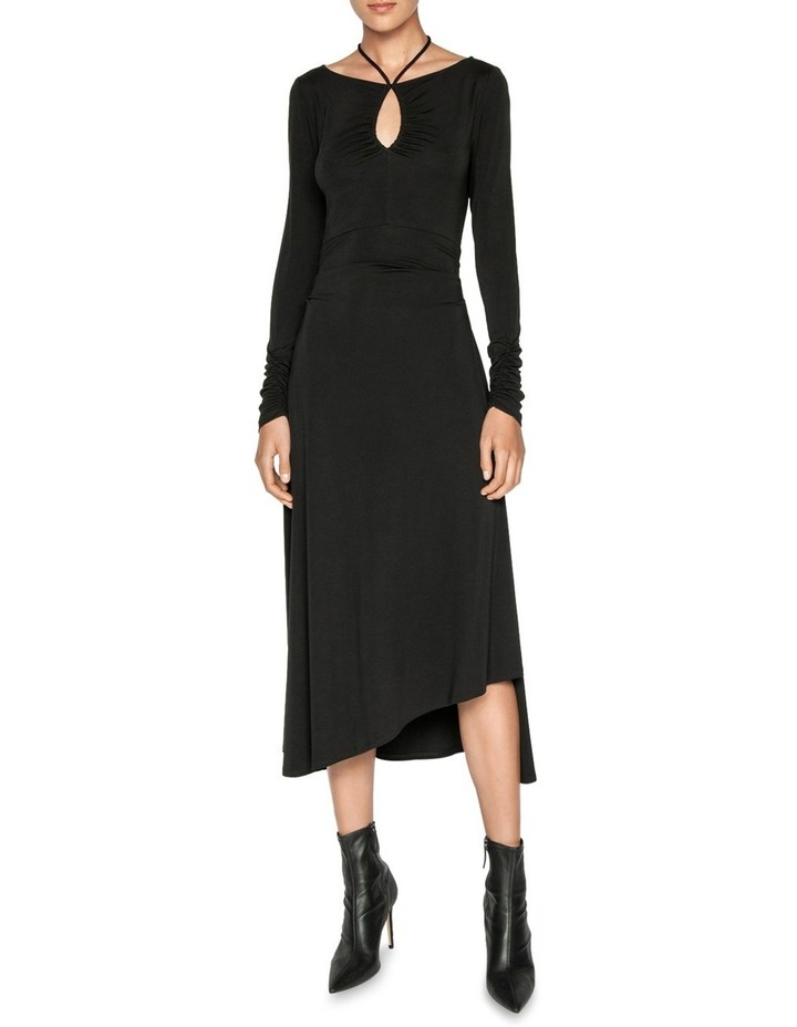 Jersey Ruched Keyhole Dress image 1