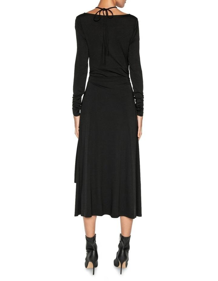 Jersey Ruched Keyhole Dress image 3