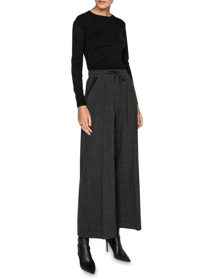 Melange Viscose Check Wide Leg Pant image 1