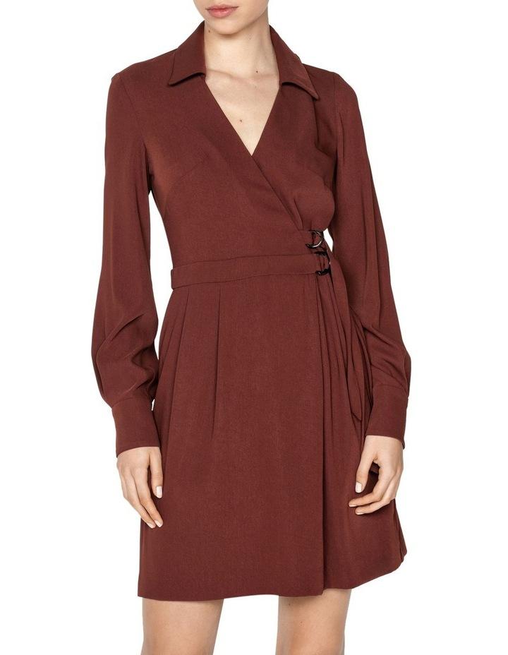 Drapey Wrap Front Mini Dress image 2
