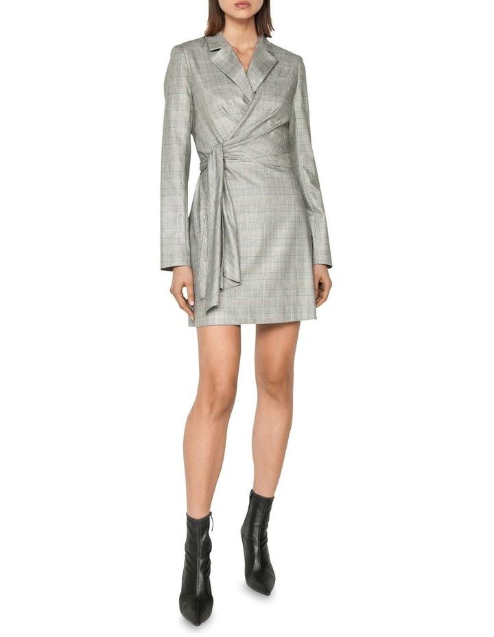 Check Wrap Front Blazer Dress image 1
