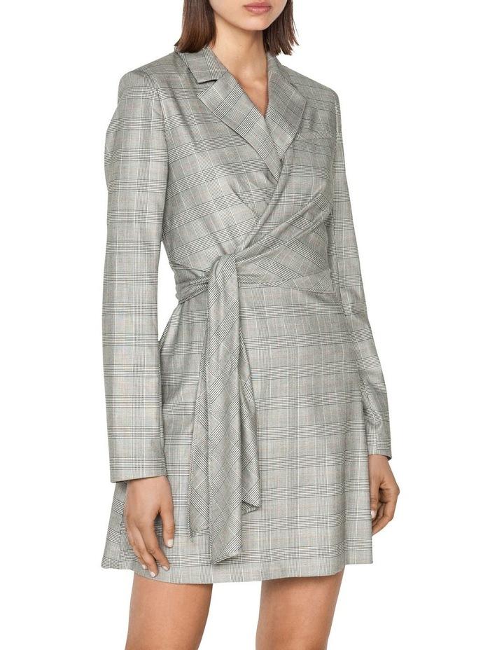 Check Wrap Front Blazer Dress image 2