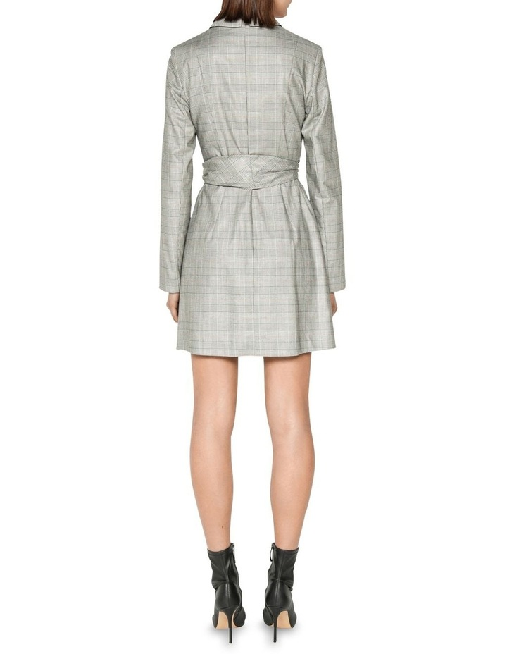 Check Wrap Front Blazer Dress image 3