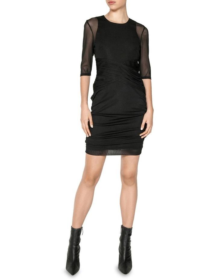 Stripe Mesh Ruched Mini Dress image 1