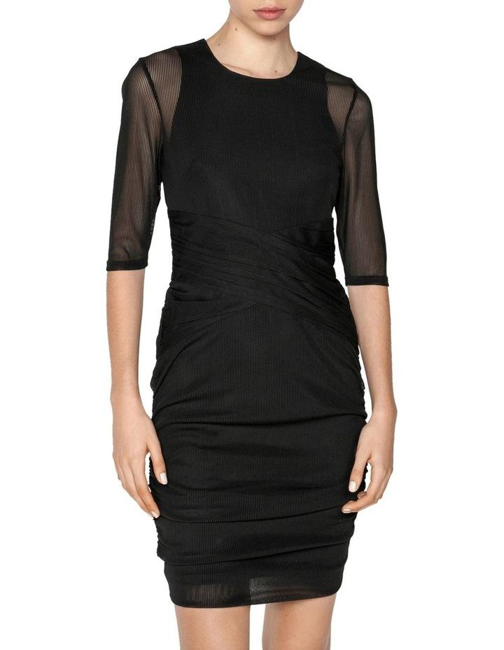 Stripe Mesh Ruched Mini Dress image 2