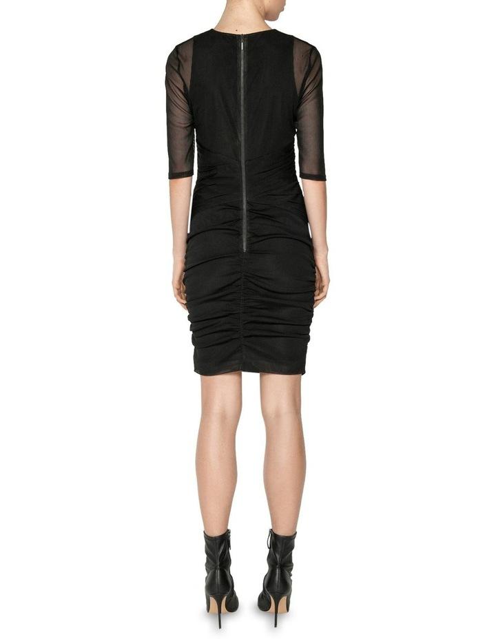 Stripe Mesh Ruched Mini Dress image 3