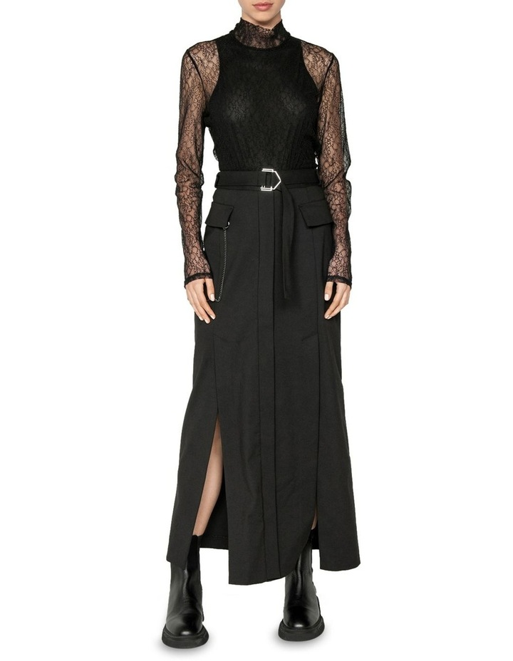 Layered Corded Mesh Body Top image 1