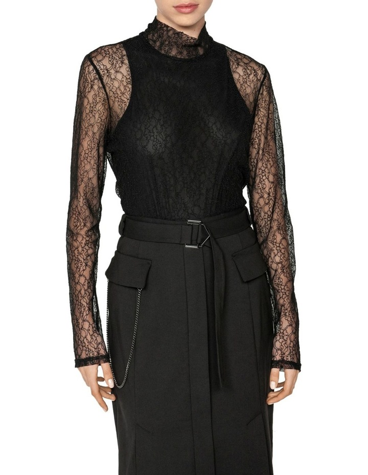 Layered Corded Mesh Body Top image 2