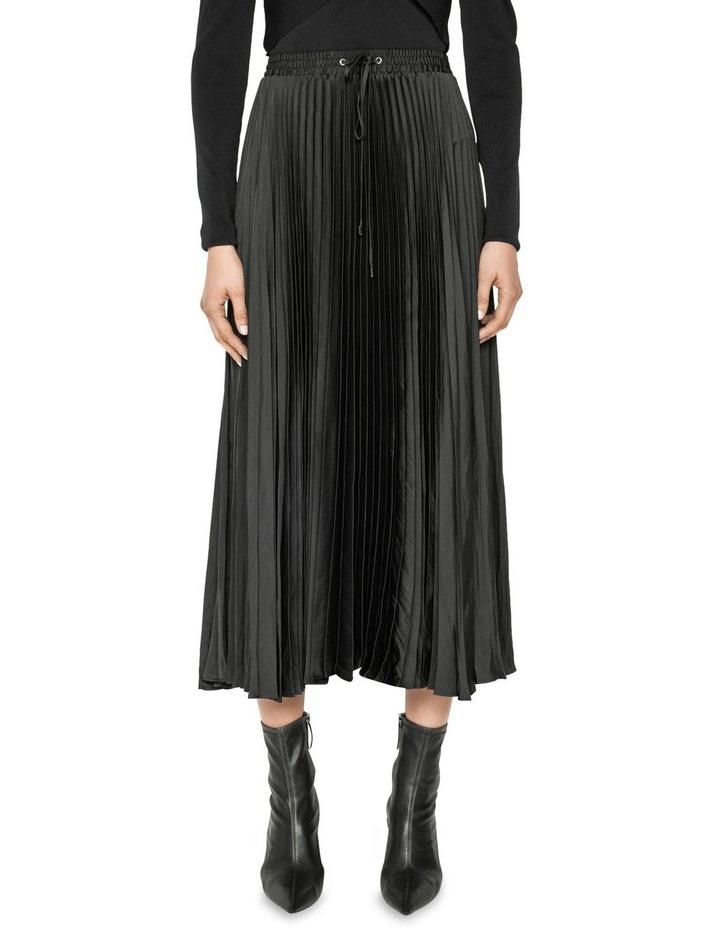Satin Pleat Midi Skirt image 2