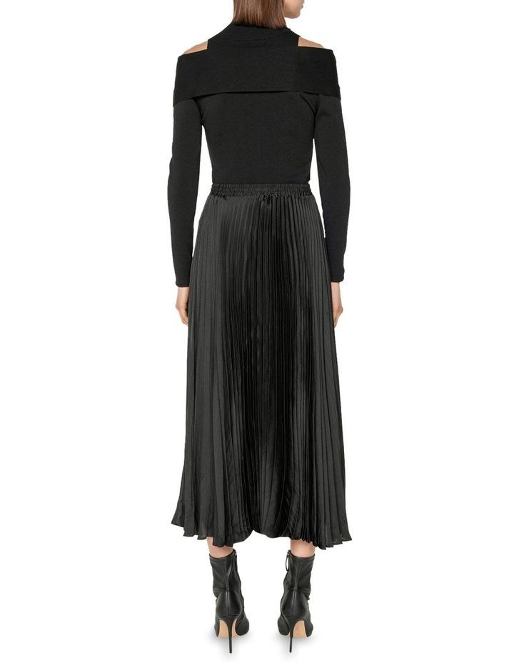 Satin Pleat Midi Skirt image 3