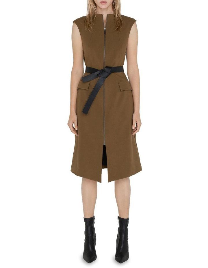 Belted Split Front Dress image 1