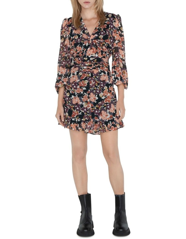 Peony Floral Twist Front Dress image 1