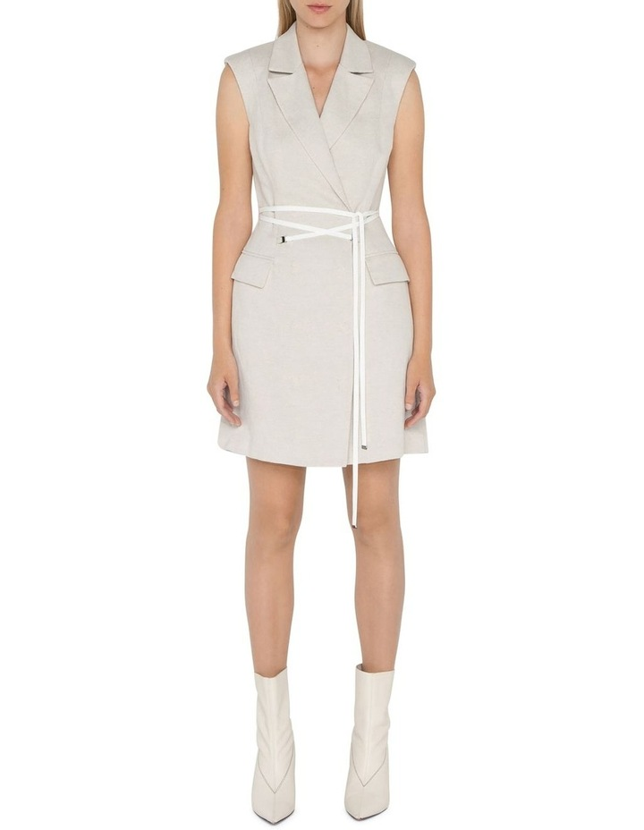 Twill Sleeveless Blazer Dress image 1