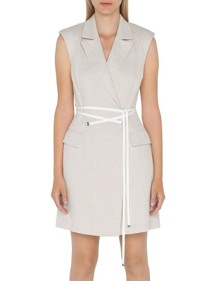 Twill Sleeveless Blazer Dress image 2