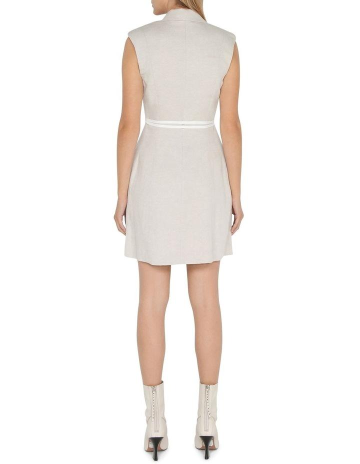 Twill Sleeveless Blazer Dress image 3