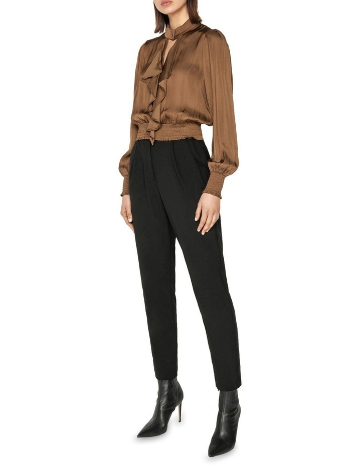Satin Cropped Frilled Blouse image 1