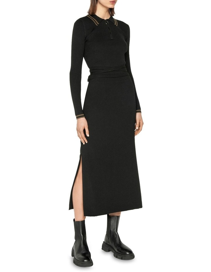 Zip Front Collared Knit image 1