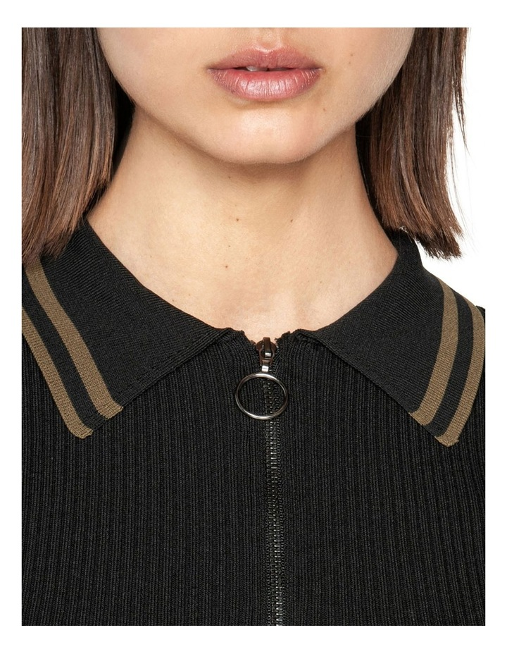 Zip Front Collared Knit image 4