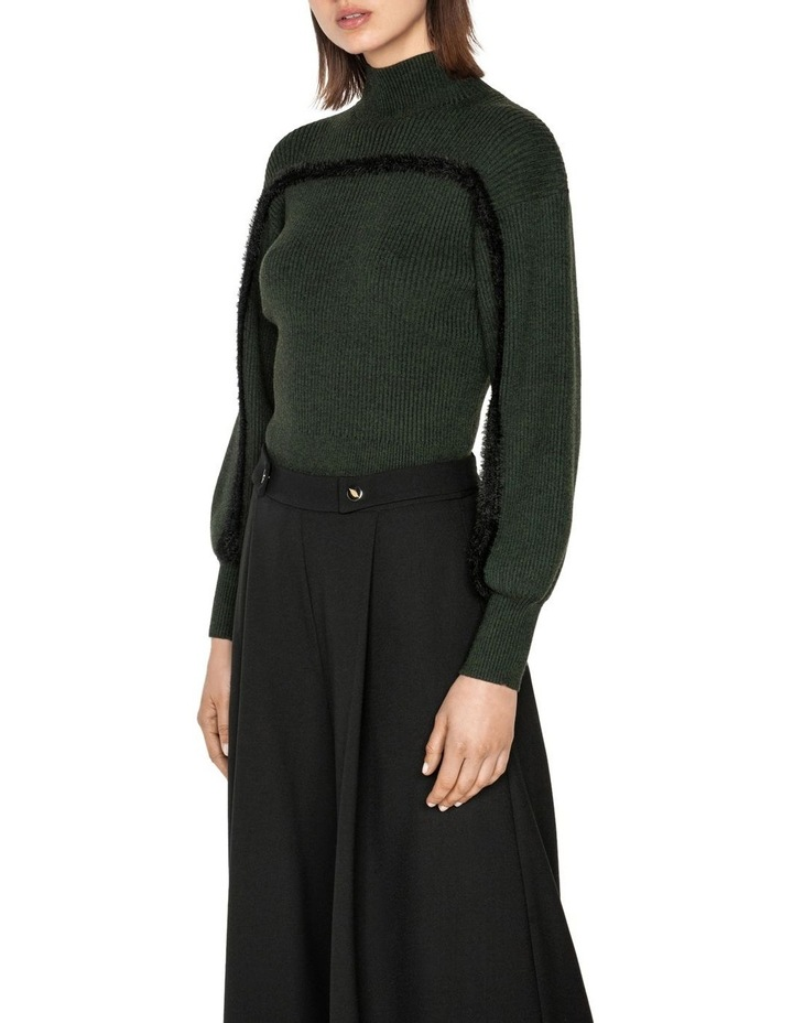 Contrast Trim Sweater image 2