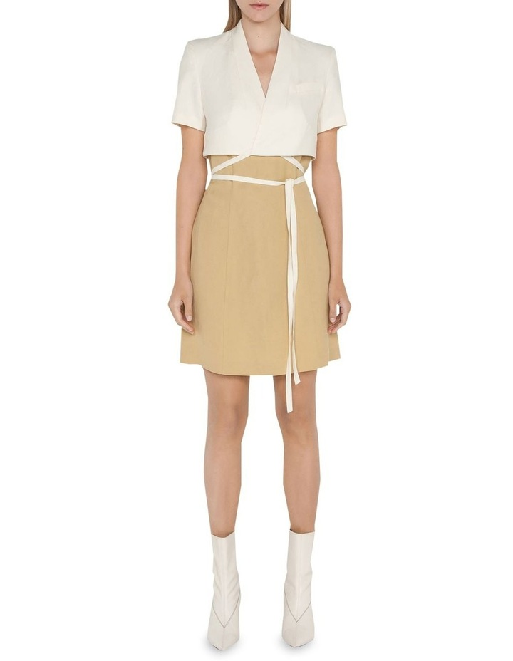 Layered Wrap Mini Dress image 1