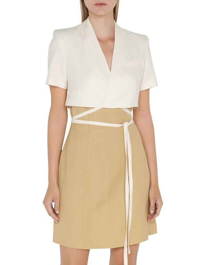 Layered Wrap Mini Dress image 2