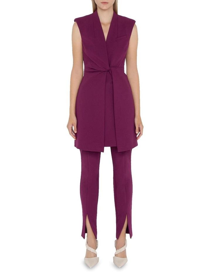 Ultra Fuchsia Twist Front Dress image 1