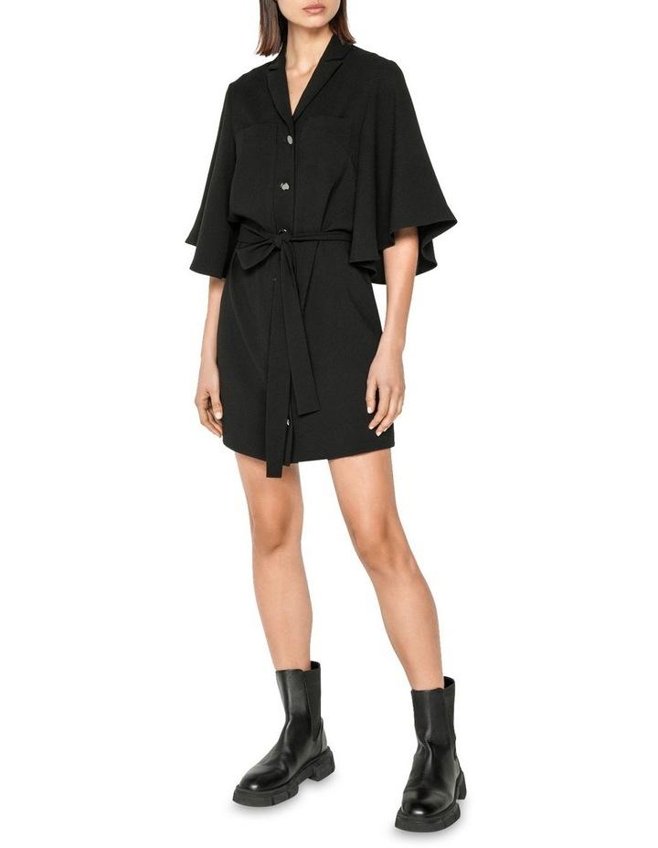 Fluted Sleeve Shirt Dress image 1