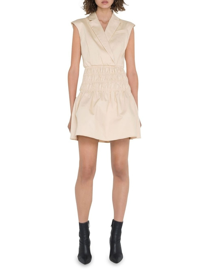 Cotton Shirred Blazer Dress image 1