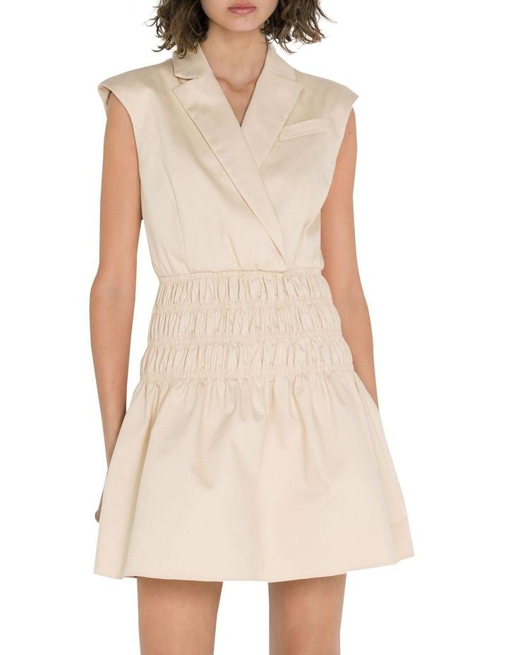 Cotton Shirred Blazer Dress image 2