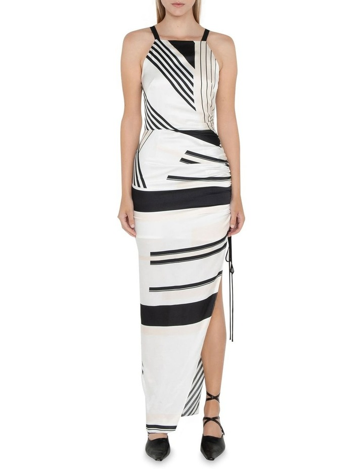 Graphic Stripe Ruched Dress image 1
